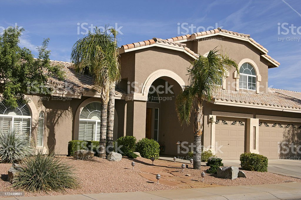 Prize Home in Scottsdale, Arizona stock photo