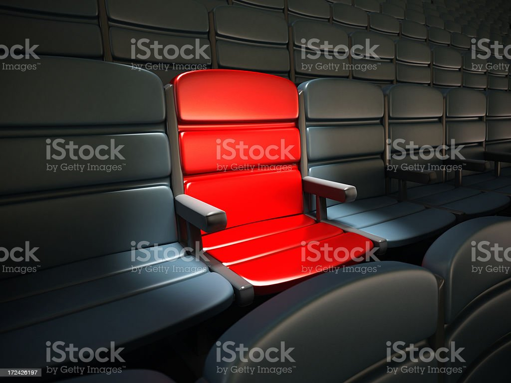 Prize seat royalty-free stock photo