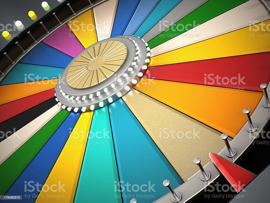 Prize wheel royalty-free stock photo