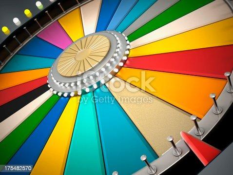 istock Prize wheel 175482570