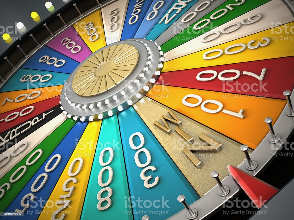 Prize wheel royalty-free stock photo