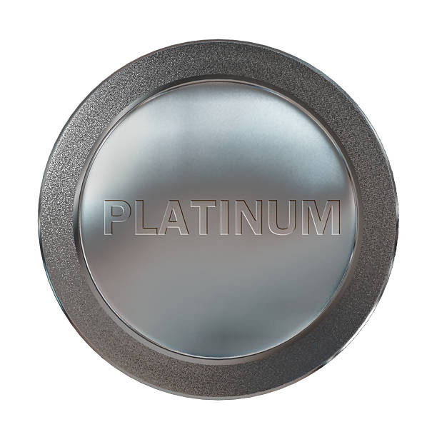 prizes platinum coin medal stock photo