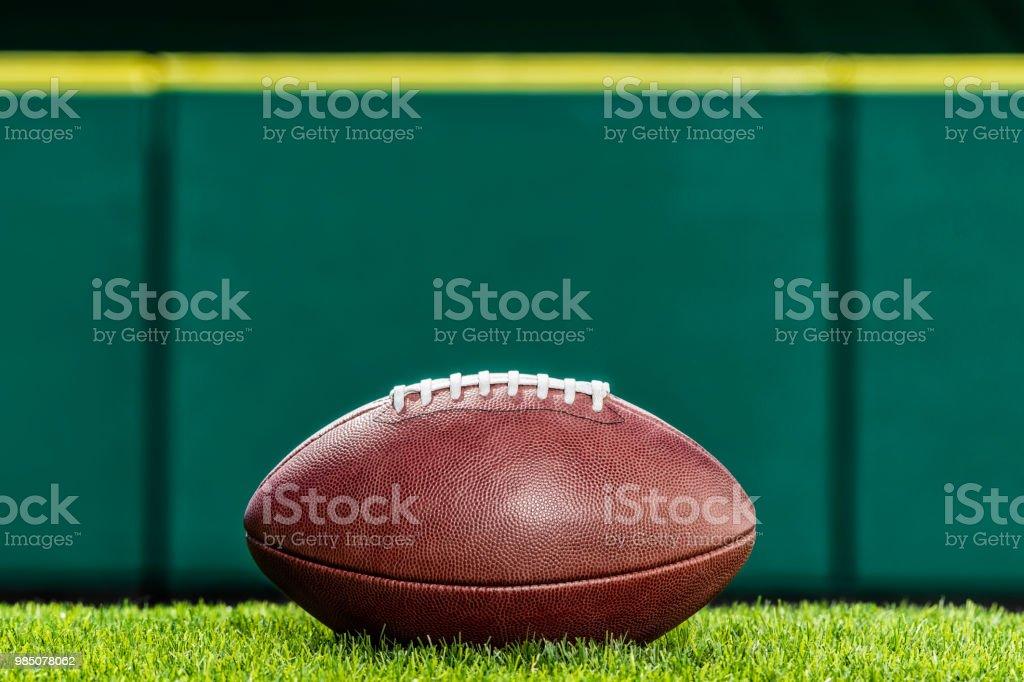 Pro American Football sitzen auf dem Rasen des Stadions. – Foto
