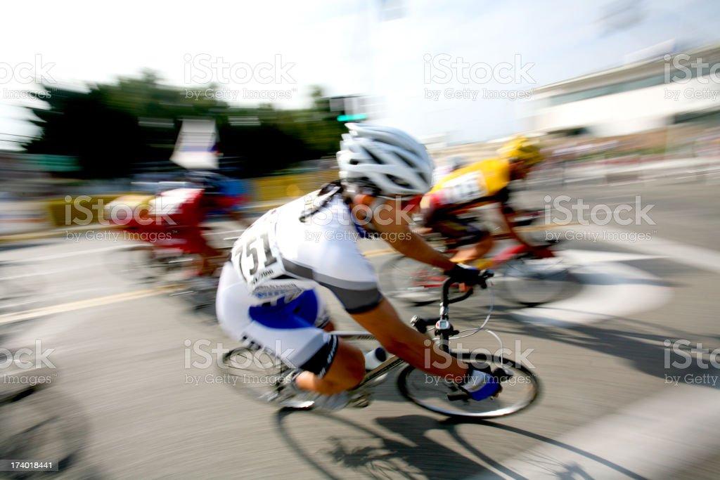 Pro Cyclist Blur royalty-free stock photo