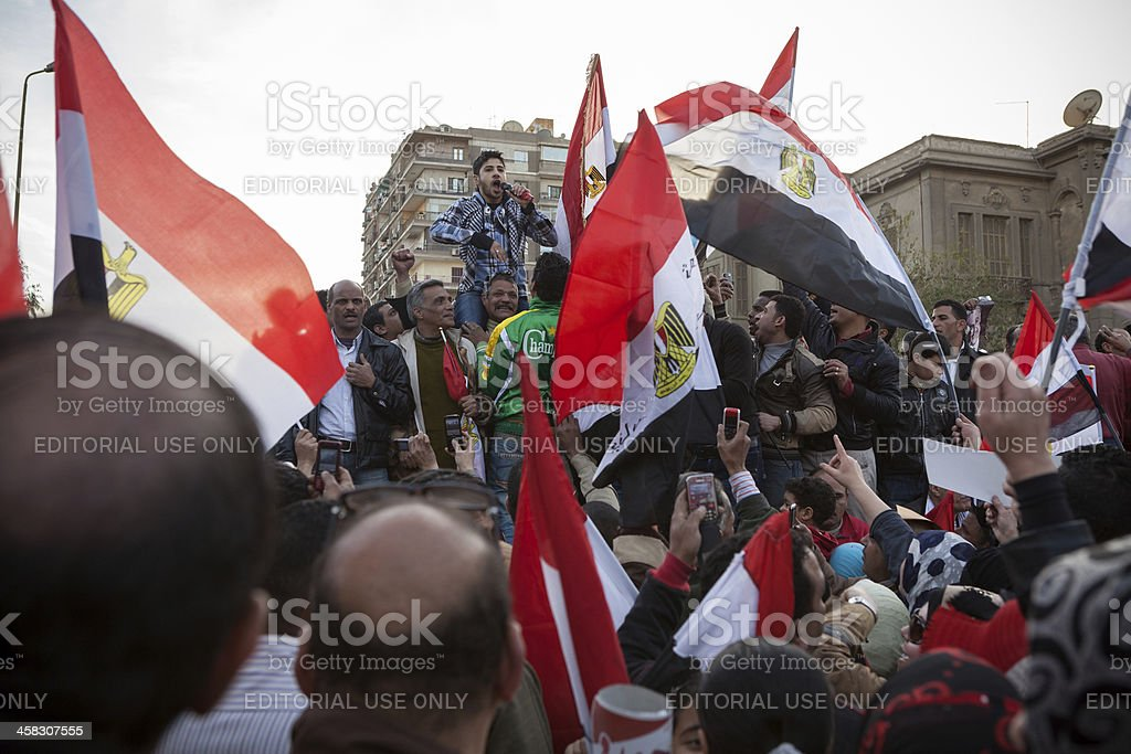 Pro Military Demonstration in Cairo stock photo