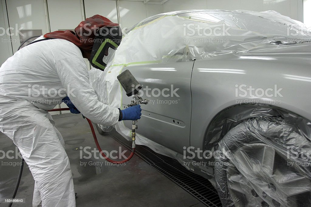 pro painting car stock photo