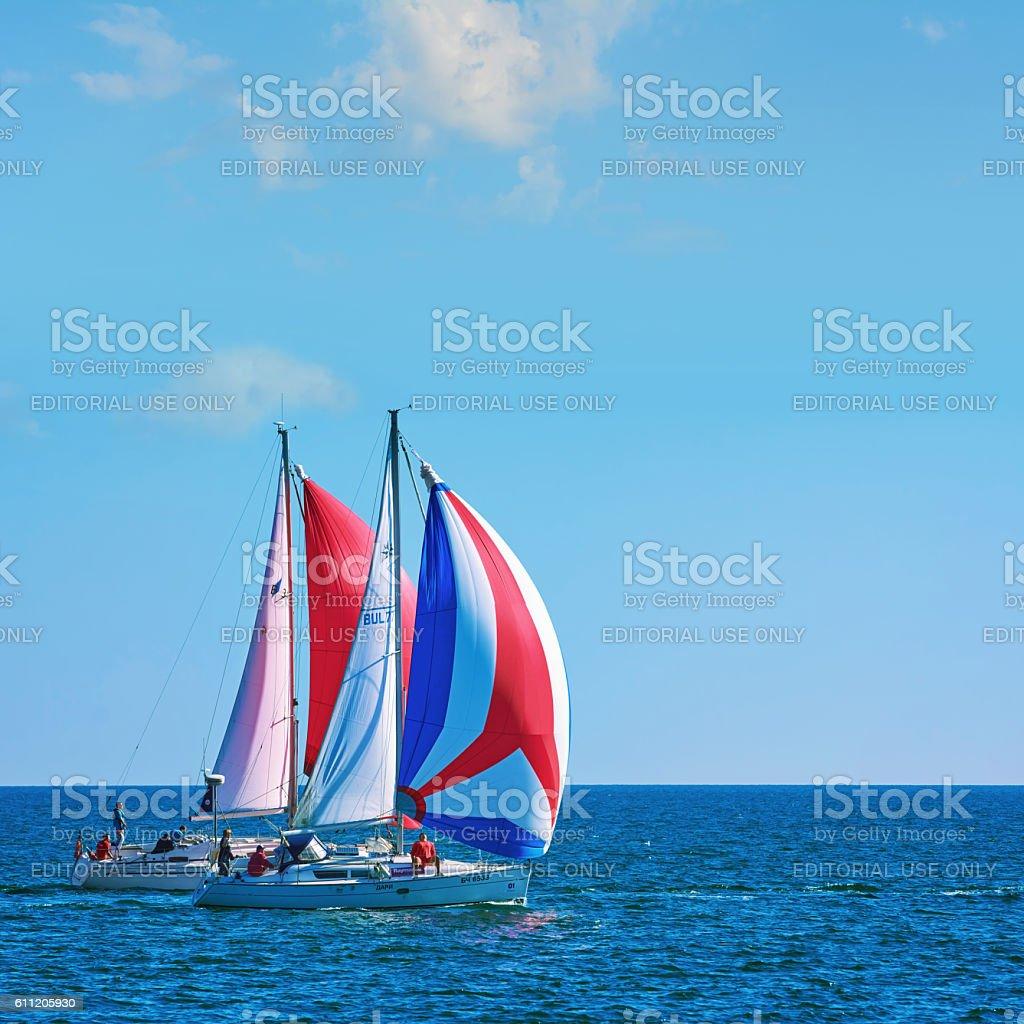 'Pro-Am Race' in the Black Sea stock photo