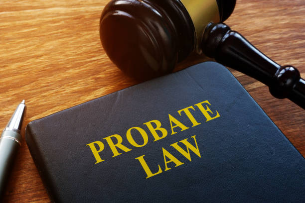 probate law book and wooden gavel in the court. - probate stock pictures, royalty-free photos & images