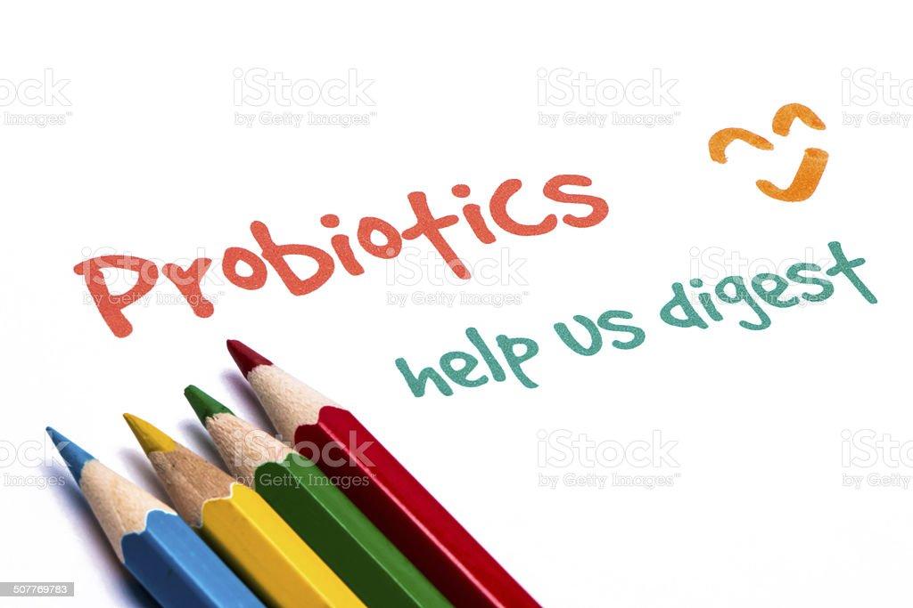 probiofics help us digest stock photo