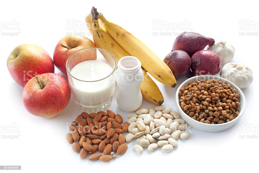 Probiotic foods stock photo