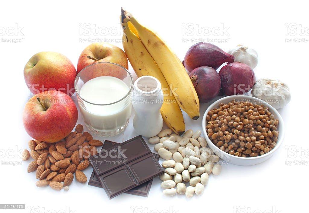 Probiotic foods stock photo