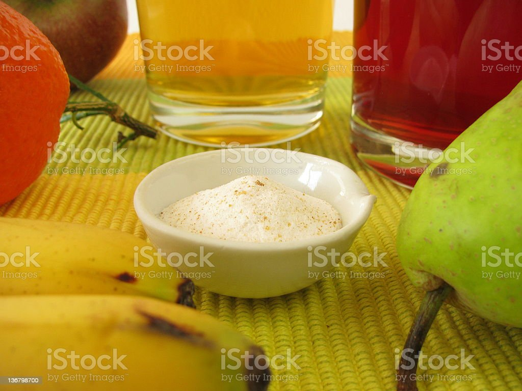 Probiotics and Prebiotics in juice royalty-free stock photo