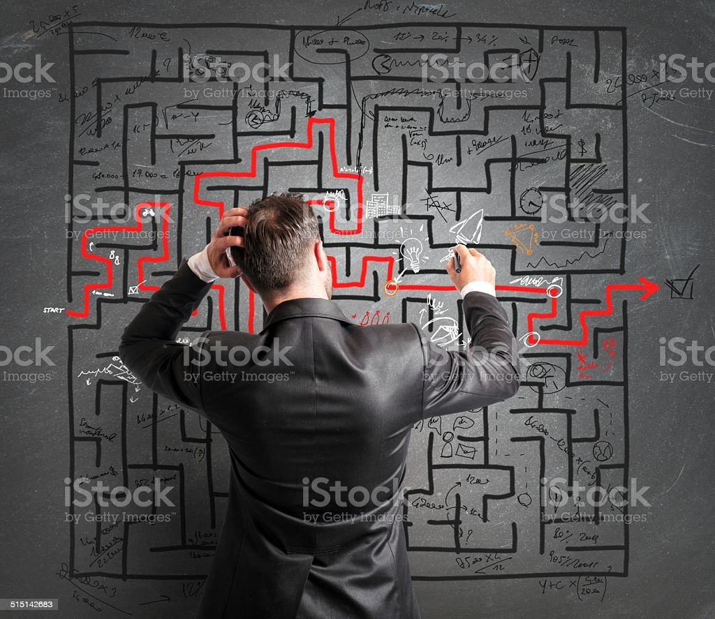 Problem and confusion stock photo