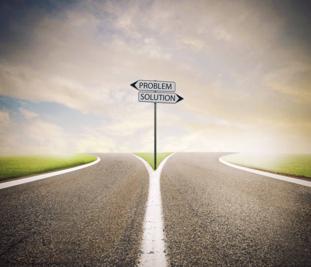 Problem and solution way. Choose the right way - foto stock