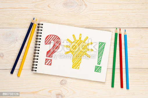 istock problem idea solution with colorful pencils concept 890733126