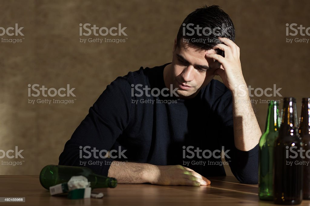 Problem of alcoholism royalty-free stock photo