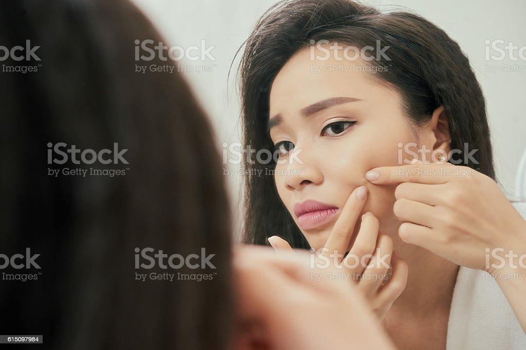 Problem skin stock photo