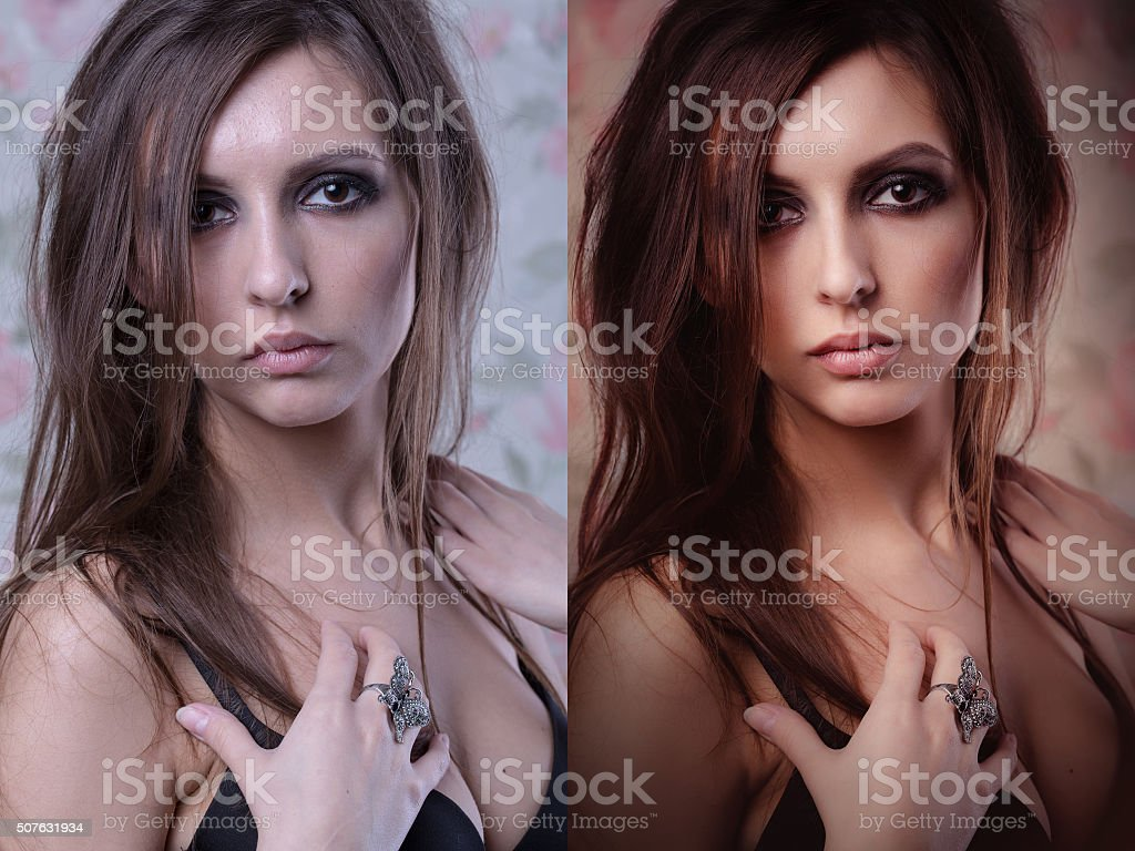 problem skin with blemishes and clear complexion stock photo