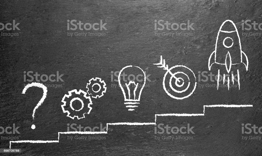 problem solution business stock photo