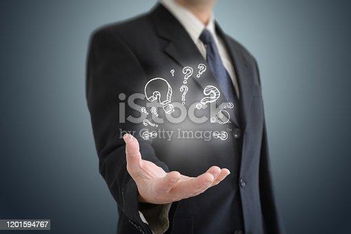1048039800 istock photo Problem solution idea business decision question 1201594767