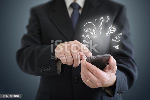 1048039800 istock photo Problem solution idea business decision question 1201594801