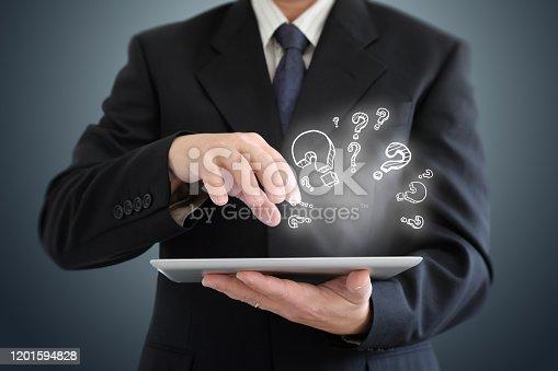 1048039800 istock photo Problem solution idea business decision question 1201594828