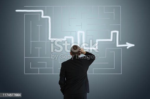 Problem solution labyrinth business strategy decision