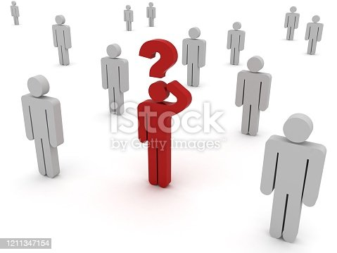 1048039800 istock photo Problem solution question idea different thinking 1211347154