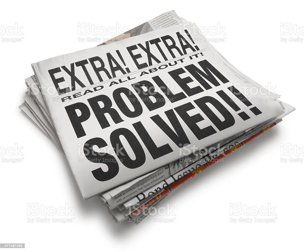 Problem Solved royalty-free stock photo