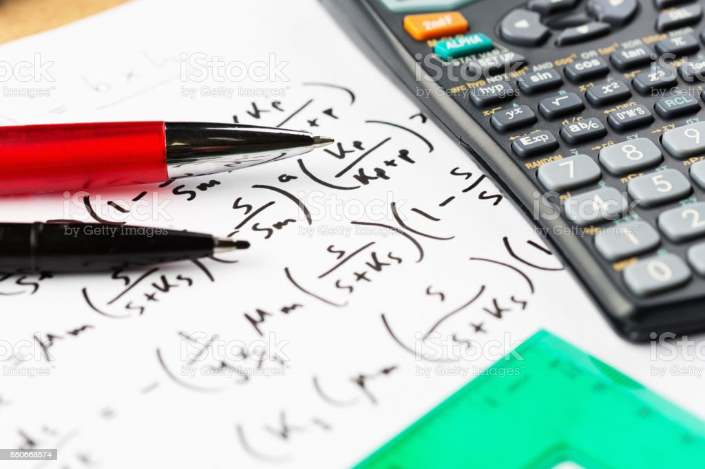 Problem Solving Complex Equation With Calculator Pens And Set Square ...