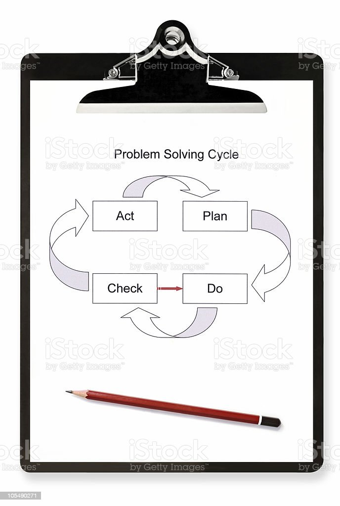 Problem Solving Diagram royalty-free stock photo