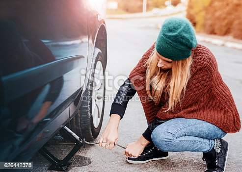 627511482 istock photo Problem with a car. A broken car on the road. 626442378