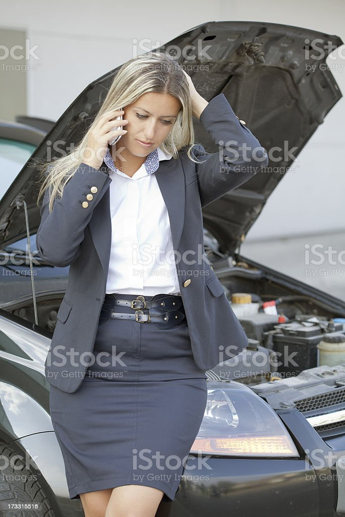 problem with car royalty-free stock photo