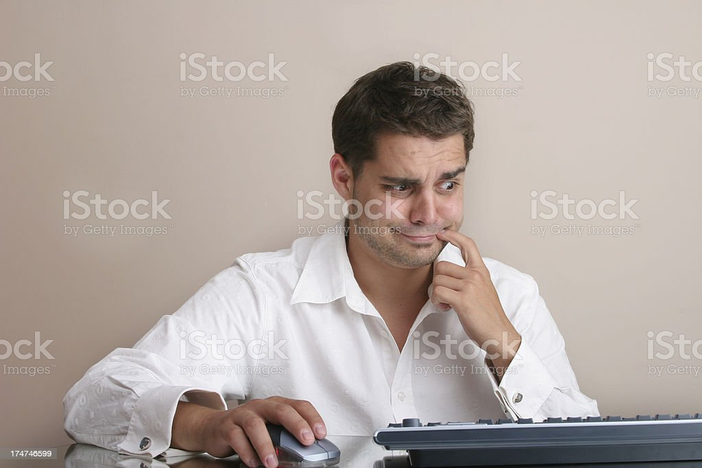 problem with computer work royalty-free stock photo
