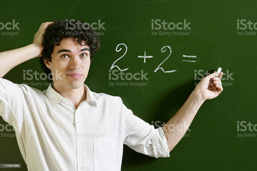 Problem with Maths stock photo