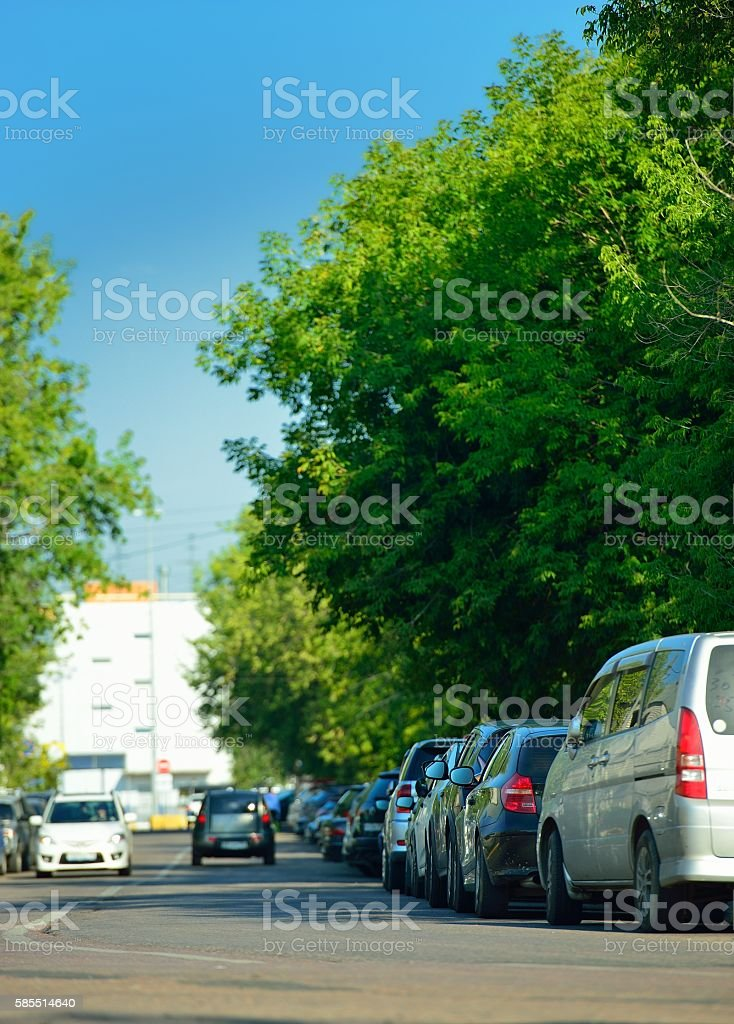 Cтоковое фото Problem with parking of cars on city streets