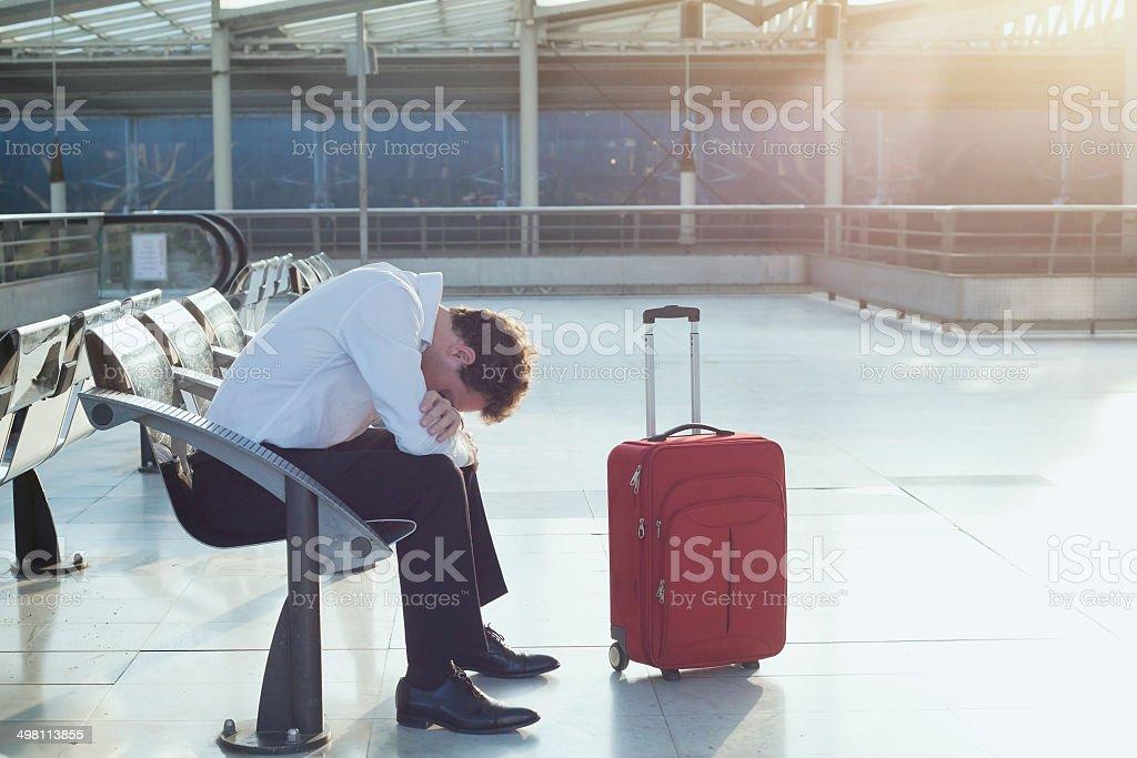 problem mit Transfer - Lizenzfrei Abflugbereich Stock-Foto
