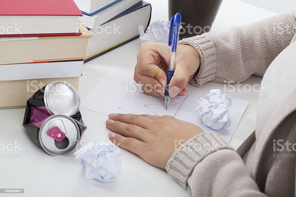 Problems in studying stock photo