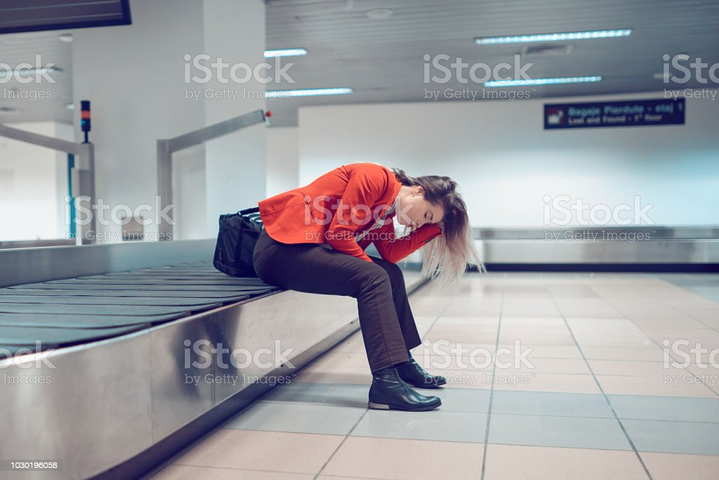 problems in the airport stock photo