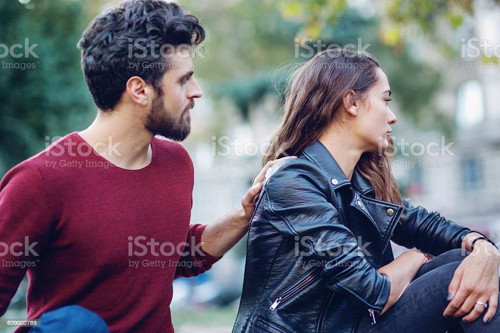 Problems in the relationship stock photo