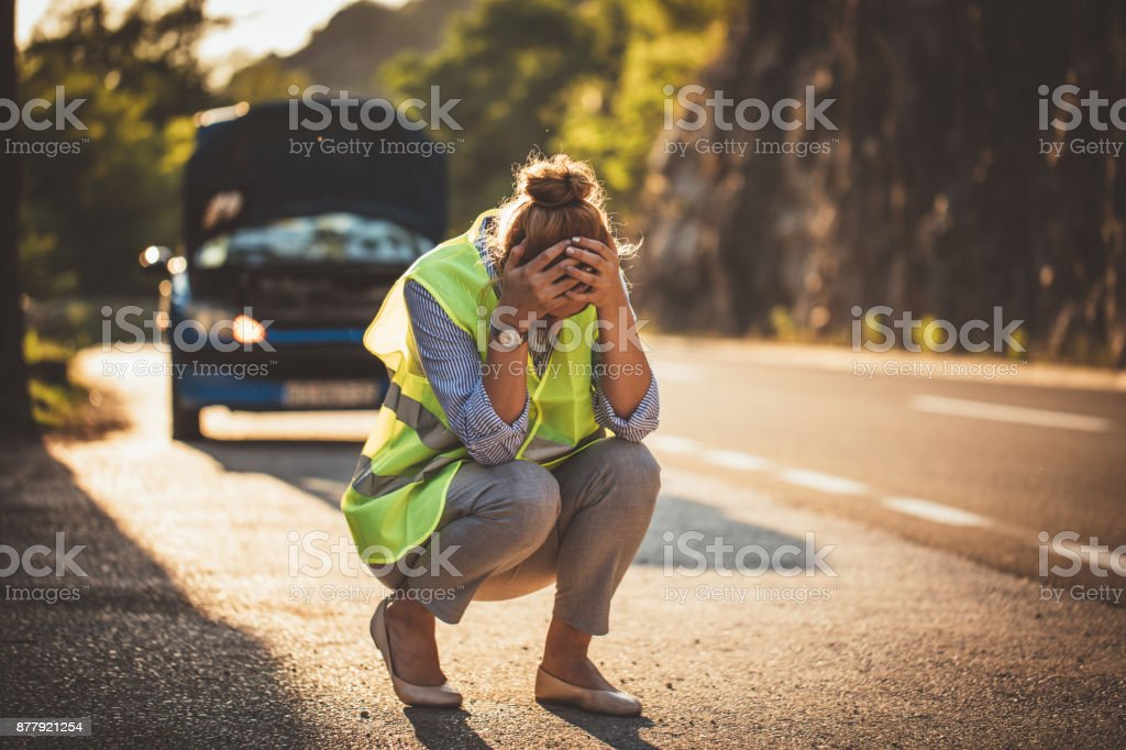 Problems on the road stock photo