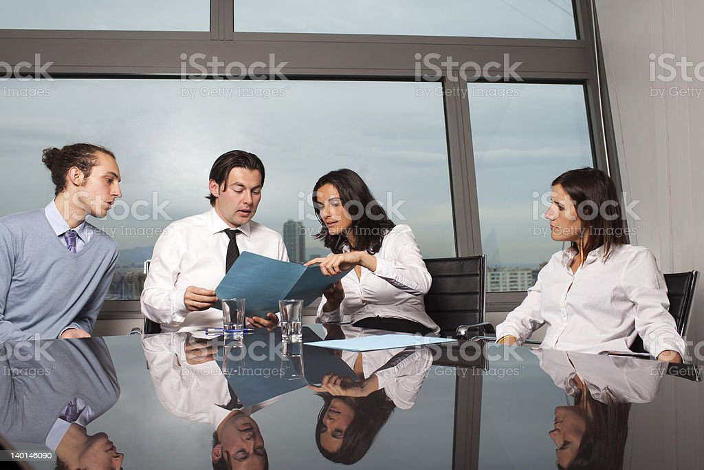 Problems with bank loan royalty-free stock photo