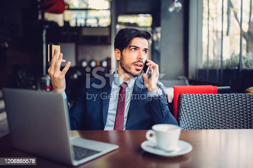 865714662 istock photo Problems with credit card 1206865578