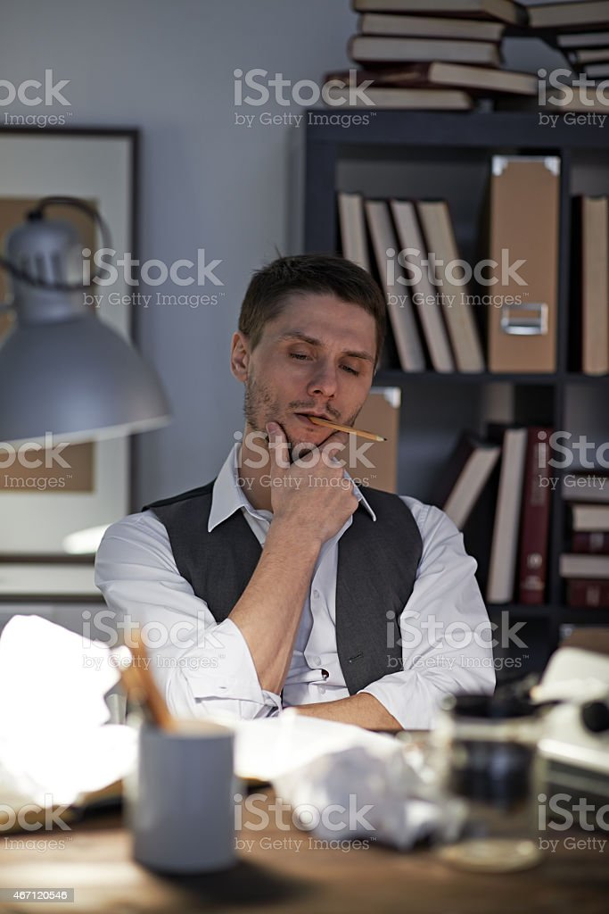 Problems with imagination stock photo