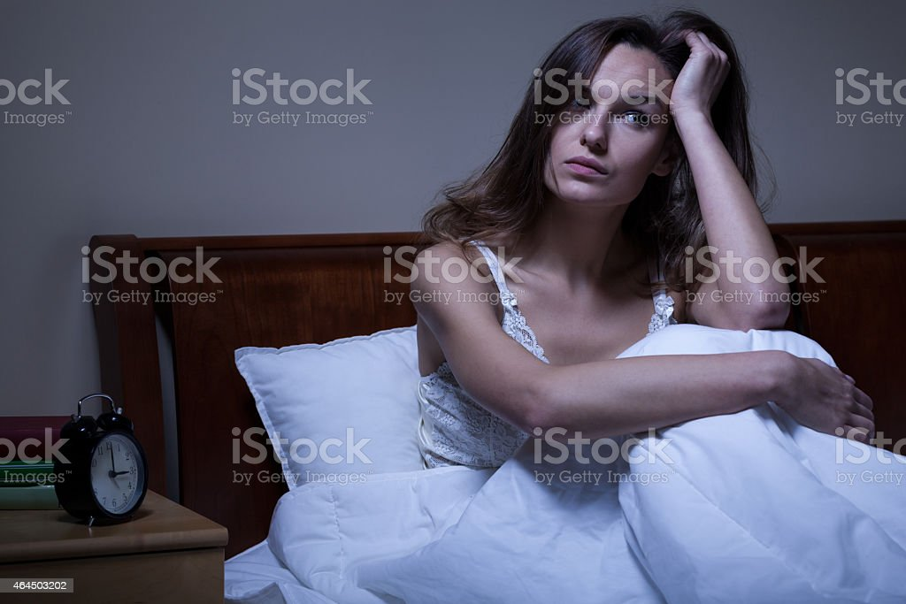 Problems with sleeping stock photo
