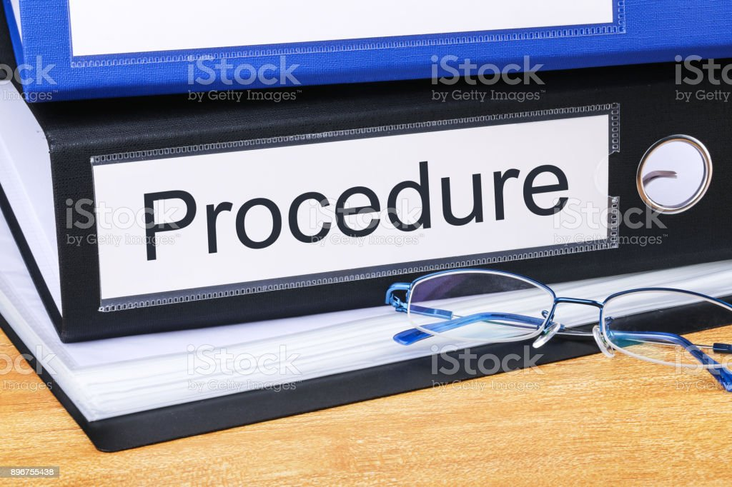 Procedure Concept stock photo