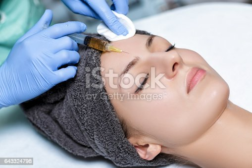 istock procedure Plasmolifting injection. plasma injection into skin o 643324798