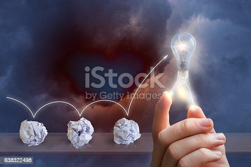 istock Process emergence of ideas. 638322498