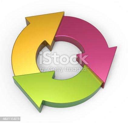 istock Process flow chart diagram 463115873