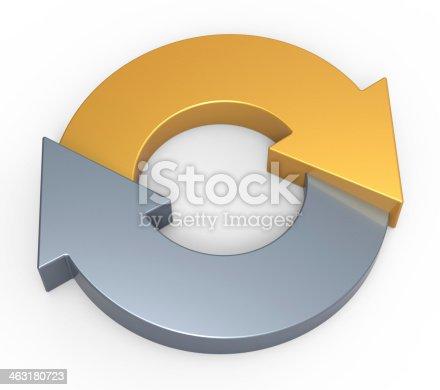 istock Process flow chart diagram 463180723